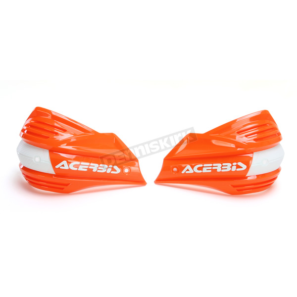 Acerbis Orange/White X-Factor Handguards - 2374195321