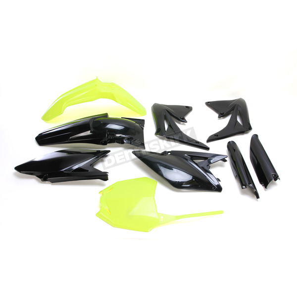 Acerbis Fluorescent Yellow/Black Full Replacement Plastic Kit - 2198035137