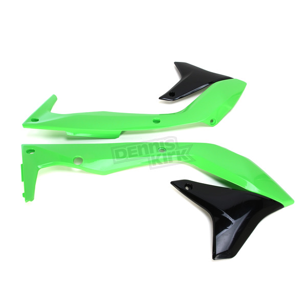 UFO OEM Green/Black Radiator Cover - KA04736-999