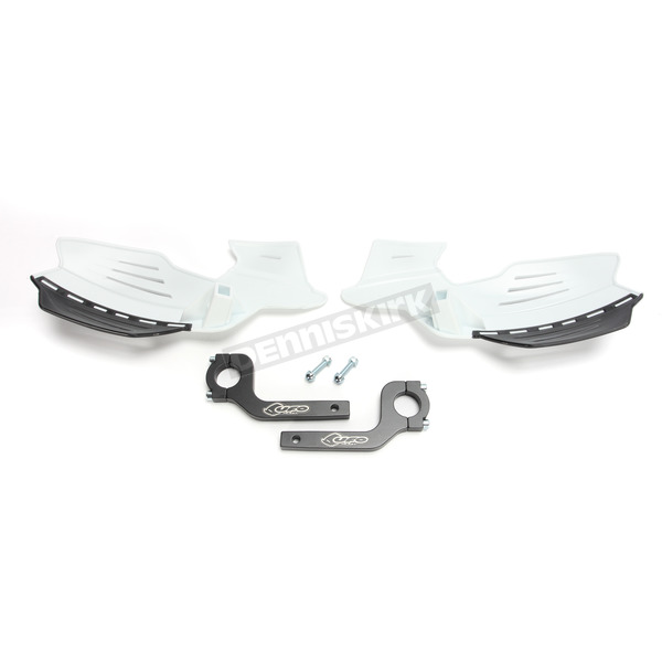 UFO White Vulcan Handguards - PM01650-041