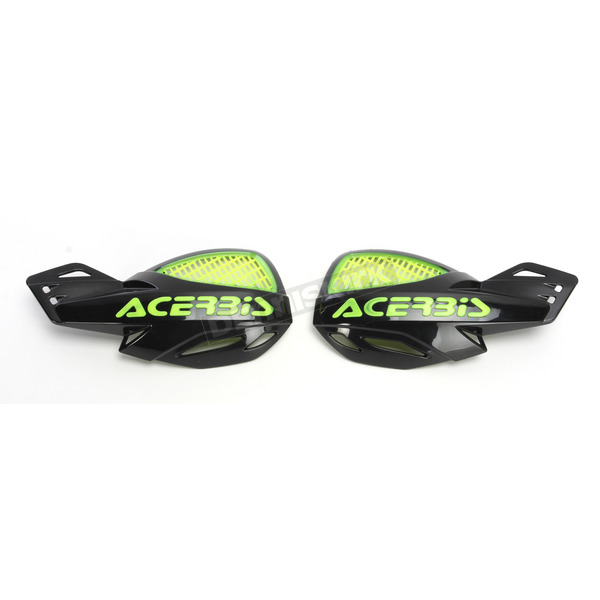 Acerbis Black/Flo Yellow Vented Uniko Handguards - 2072675414
