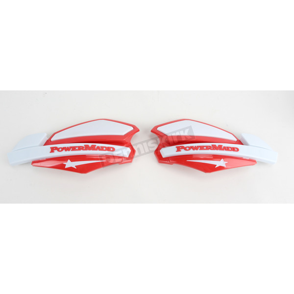 PowerMadd Red/White Star Series Handguards - 34222