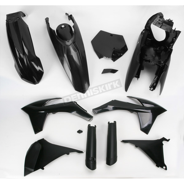 Acerbis Black Full Replacement Plastic Kit - 2205270001
