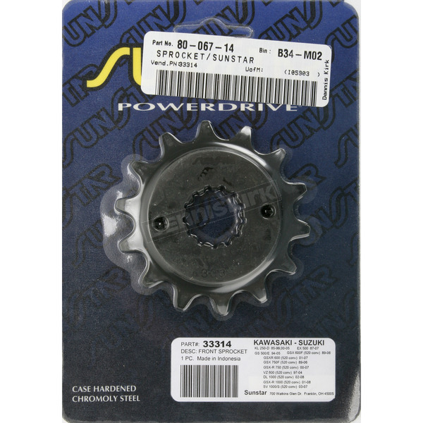 Sunstar Sprocket - 33314
