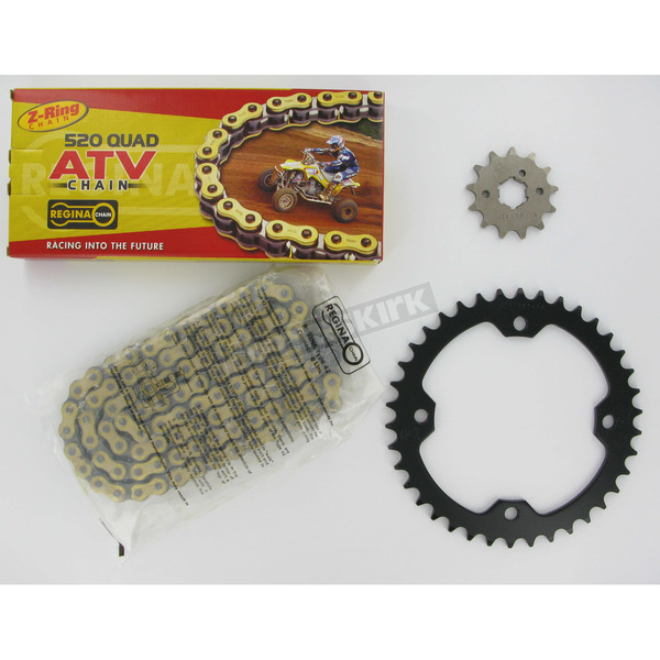 Regina 520 Quad Z-Ring Chain and Sprocket Kit - 5QUAD098KYA017