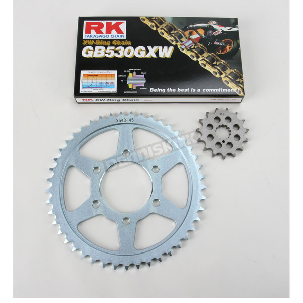 RK GB530GXW Chain and Sprocket Kit - 3125-950WG
