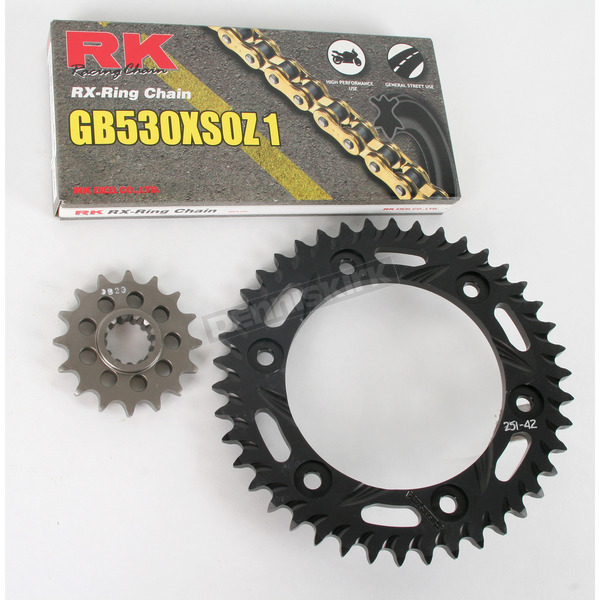RK GB530XSO-Z1 Chain and Black Sprocket Kit - 1102-064AK