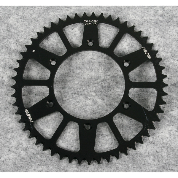 Sunstar 53 Tooth Black Anodized Rear Works Triplestar Aluminum Sprocket - 5-354753BK