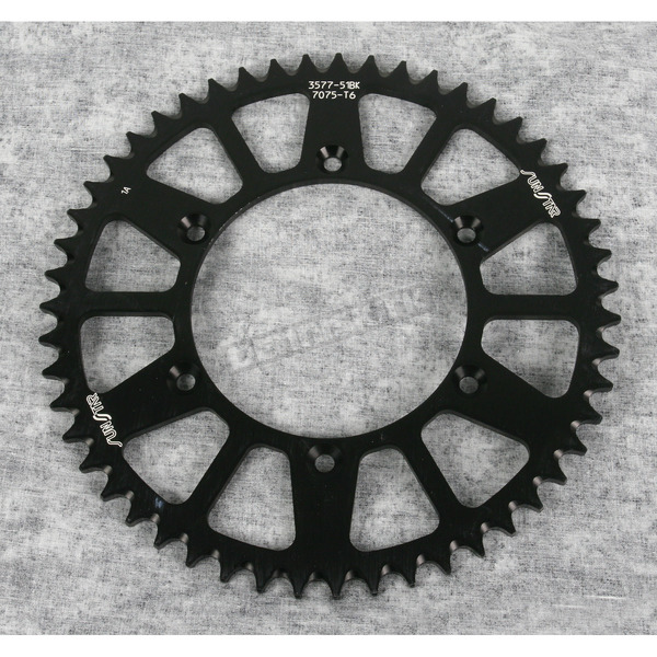 Sunstar 51 Tooth Black Anodized Rear Works Triplestar Aluminum Sprocket - 5-357751BK
