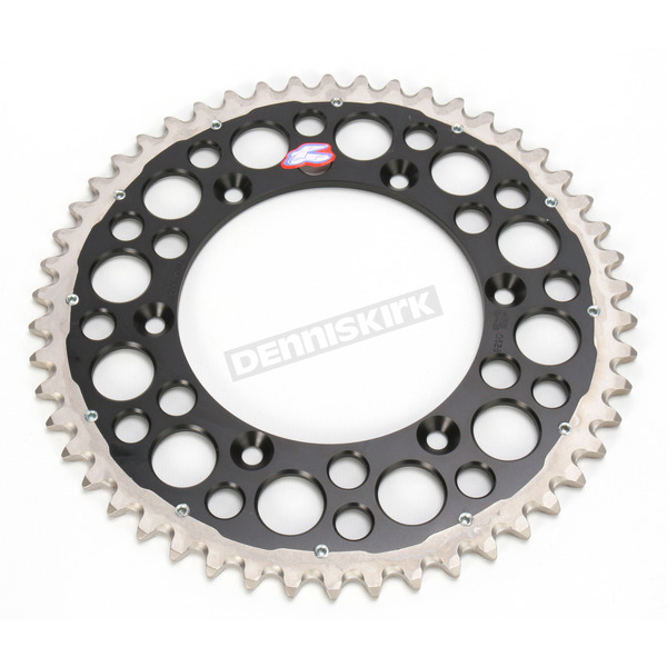 Renthal 50 Tooth Black TwinRing Heavy-Duty Sprocket - 1500-520-50GPBK