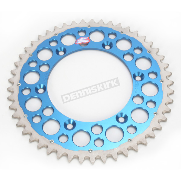 Renthal 49 Tooth Blue TwinRing Heavy-Duty Sprocket - 1500-520-49GPBU