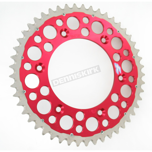 Renthal 49 Tooth Red TwinRing Heavy-Duty Sprocket - 1540-520-49GPRD