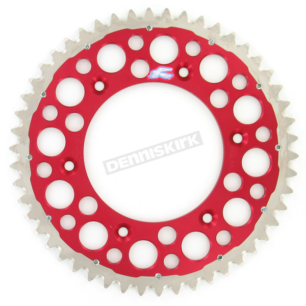 Renthal 50 Tooth Red TwinRing Heavy-Duty Sprocket - 1540-520-50GPRD