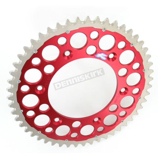 Renthal 51 Tooth Red TwinRing Heavy-Duty Sprocket - 1540-520-51GPRD