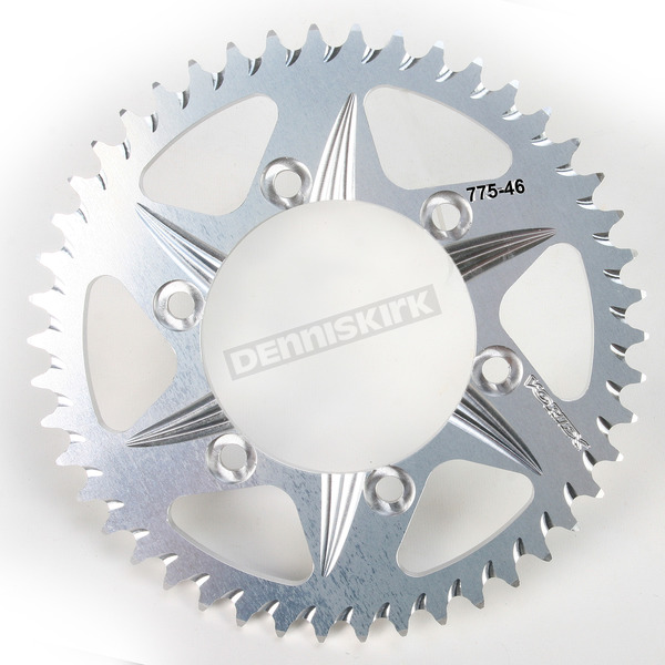 Vortex 46 Tooth Aluminum Silver Rear Sprocket - 775-46