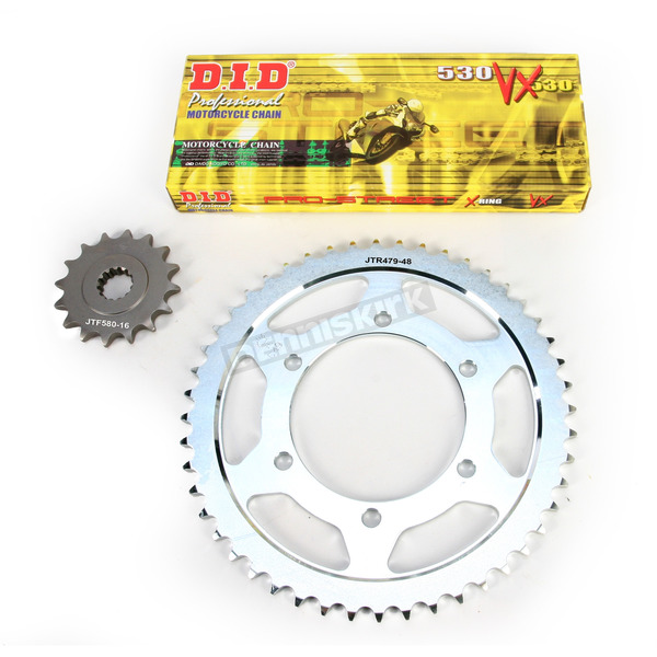 DID X-Ring Chain and Sprocket Kit - 530 Conversion - DKY-003