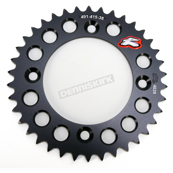 Renthal Black Rear Sprocket - 49141538PBK