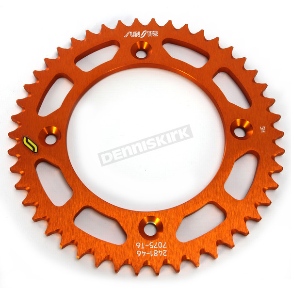 Sunstar Orange Works Aluminum Rear Sprocket - 5-139047OR