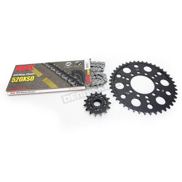RK Natural Kawasaki 520 XSO Chain and Sprocket Kit  - 2068-050E