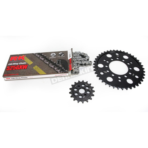 RK Natural Kawasaki 525 GXW Chain and Sprocket Kit  - 2108-080E
