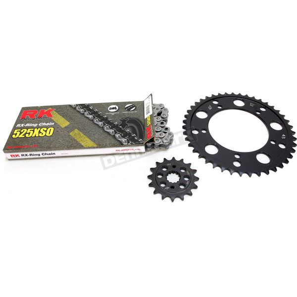 RK Natural Suzuki 525XSO Chain and Sprocket Kit  - 3066-060E
