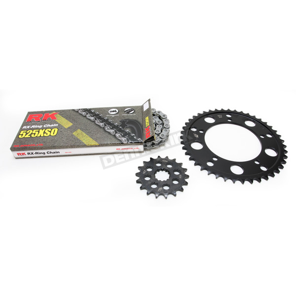 RK Natural 525XSO Chain and Sprocket Kit  - 7084-070E
