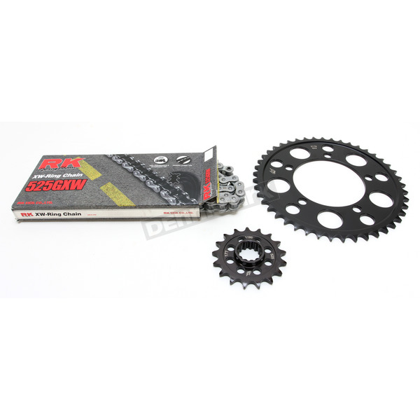 RK Natural BMW 525GXW Chain and Sprocket Kit - 9101-120E