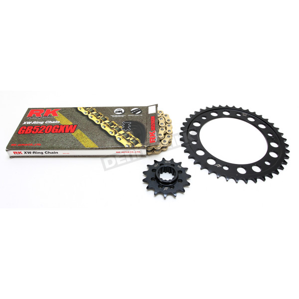 RK Gold Honda GB520GXW Acceleration Chain with Steel Sprocket - 1102-049PG