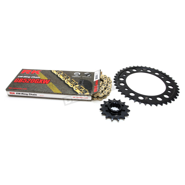 RK Gold Honda GB520GXW Acceleration Chain with Steel Sprocket - 1102-069PG