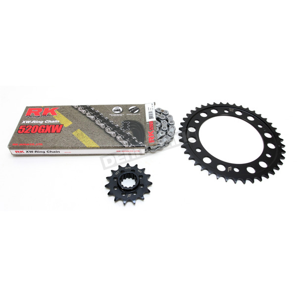 RK Natural Honda 520GXW Quick Acceleration Chain with Steel Sprocket  - 1102-089P