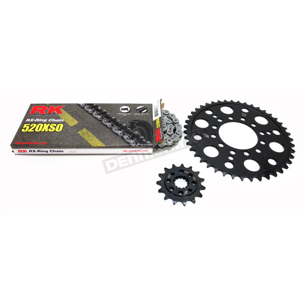 RK Natural Kawasaki 520XSO Quick Acceleration Chain with Steel Sprocket - 2068-079P