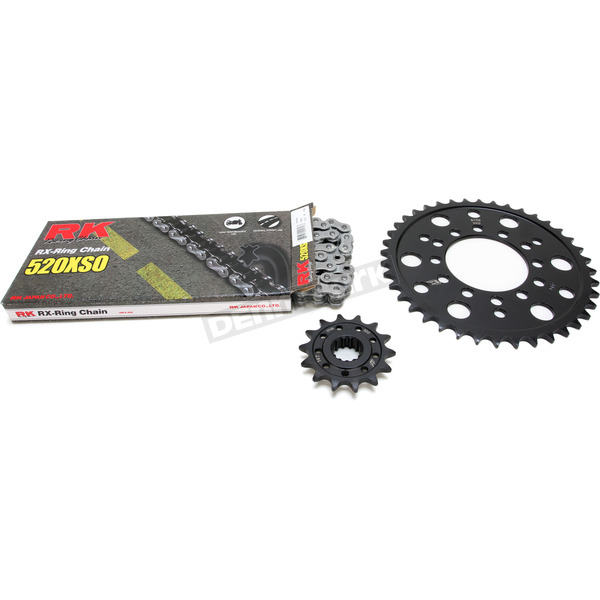 RK Natural Kawasaki 520XSO Quick Acceleration Chain with Steel Sprocket - 2068-980E