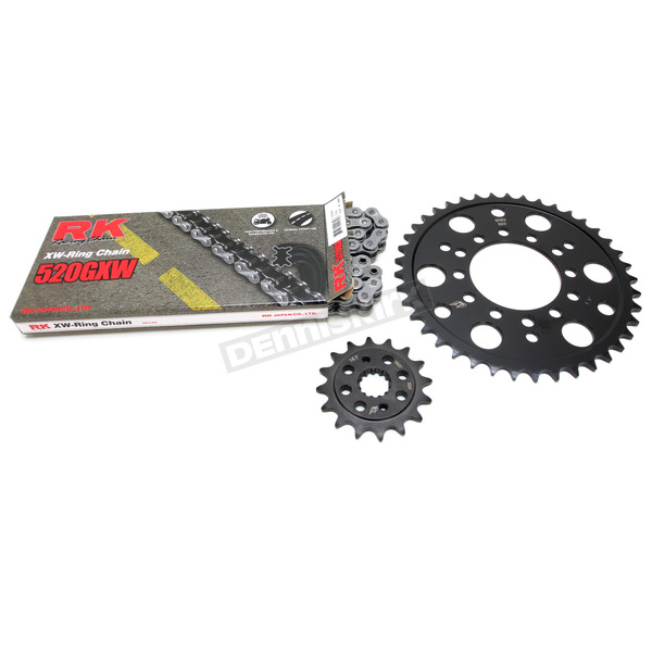 RK Natural Kawasaki 520GXW Quick Acceleration Chain with Steel Sprocket  - 2108-089P
