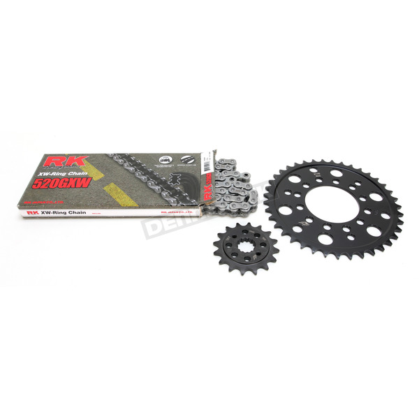 RK Natural Kawasaki 520GXW Quick Acceleration Chain with Steel Sprocket  - 2108-119P