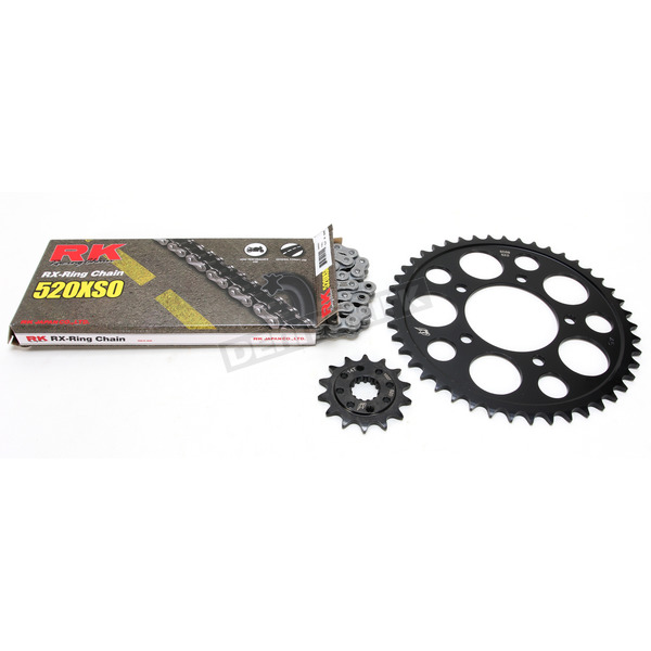RK Natural Suzuki 520XSO Quick Acceleration Chain with Steel Sprocket - 3068-999P