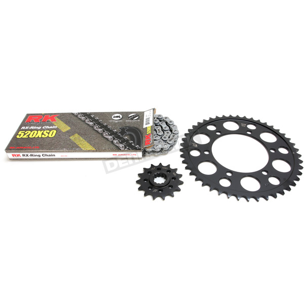 RK Natural Yamaha 520XSO Acceleration Chain with Steel Sprocket - 4067-069P