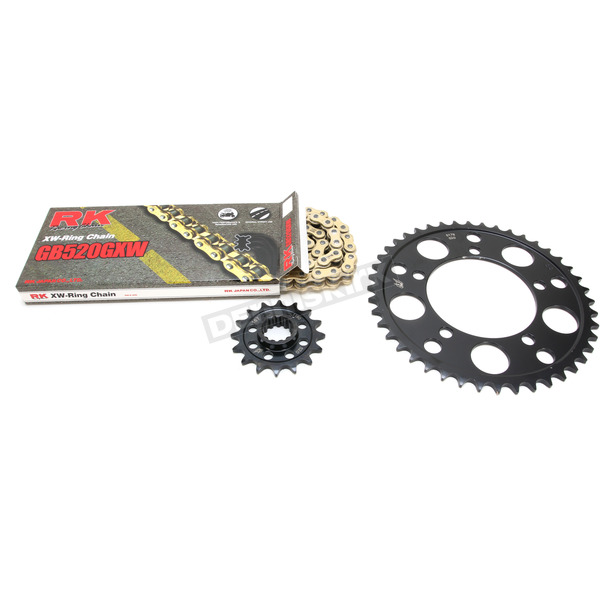 RK Gold BMW GB520GXW Acceleration Chain with Steel Sprocket - 9101-099PG