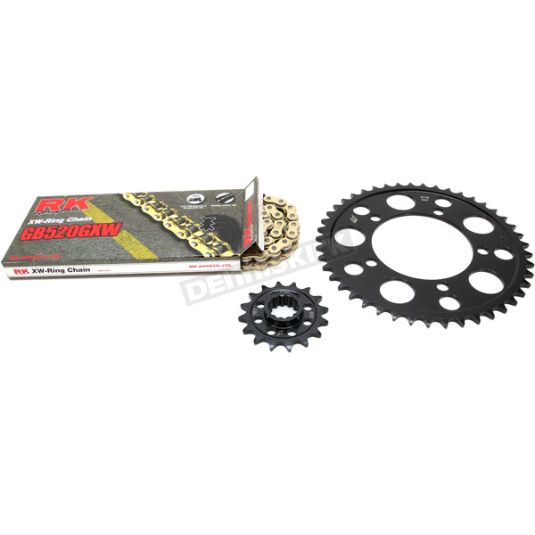 RK Gold BMW GB520GXW Acceleration Chain with Steel Sprocket - 9101-129PG