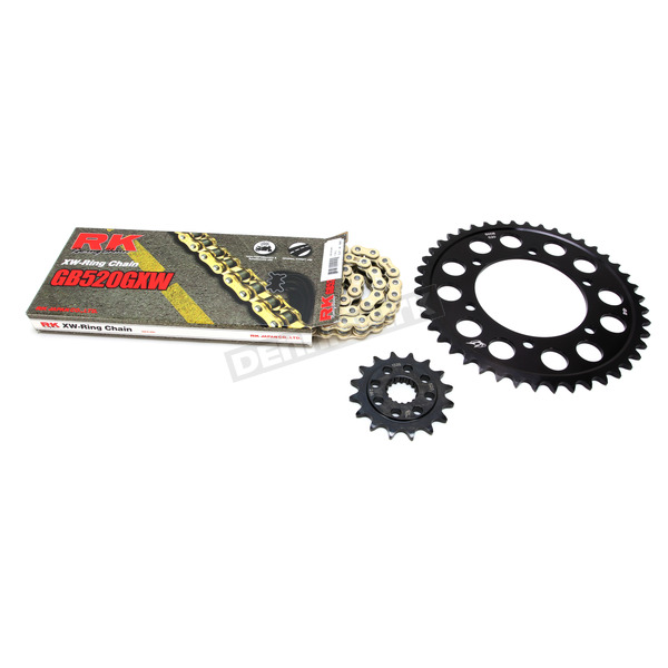 RK Gold Suzuki GB520GXW Chain and Sprocket Race Kit  - 3106-098DG