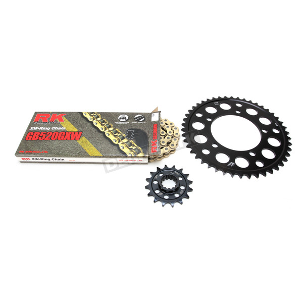 RK Gold BMW GB520GXW Chain and Sprocket Race Kit  - 9101-098DG