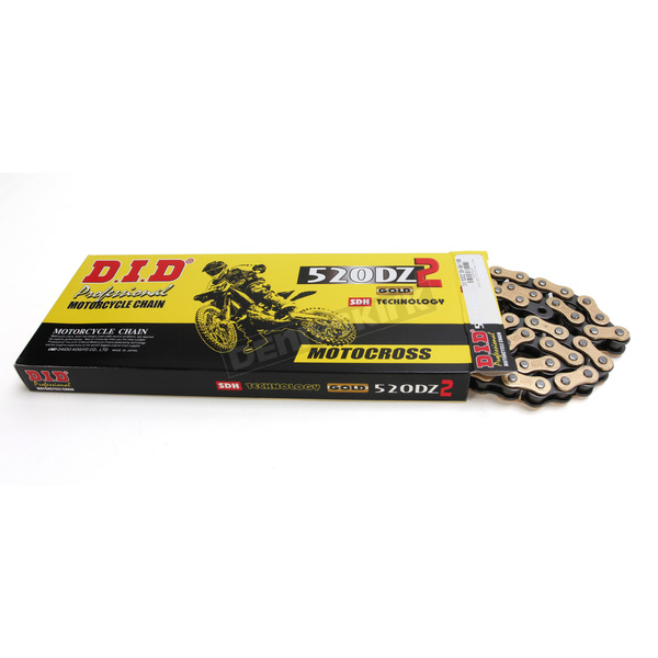 DID MX Racing 520DZ2 Gold Chain and Sprocket Kit - MXK-0050EM-1