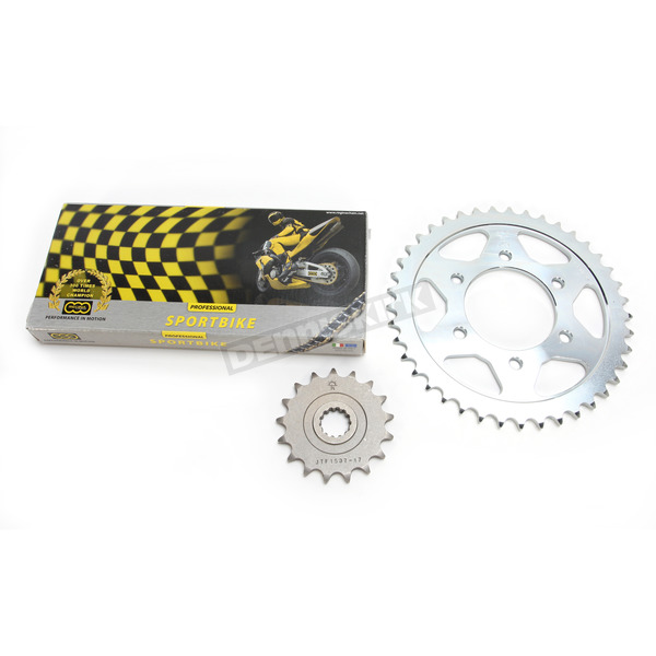 Regina 525ZRP Z-Ring Chain and Sprocket Kit - 7ZRP/110KKA020