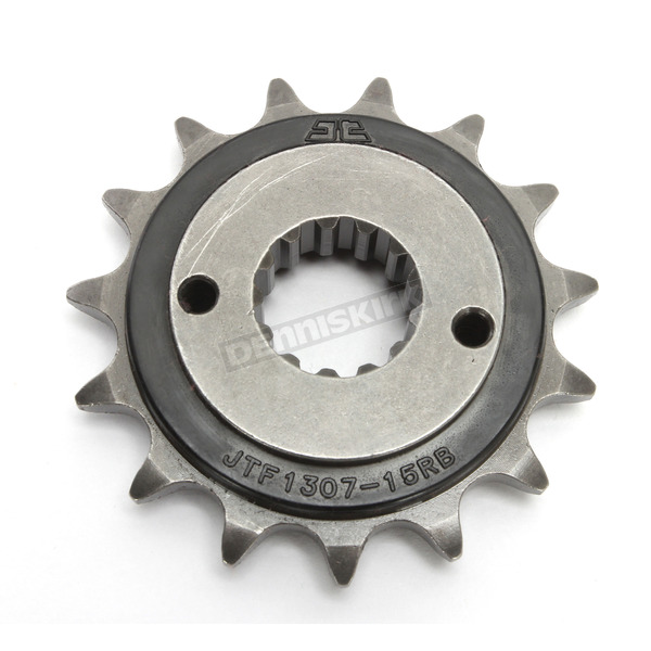 JT Sprockets Front Rubber 15 Tooth Cushioned Sprocket - JTF1307.15RB