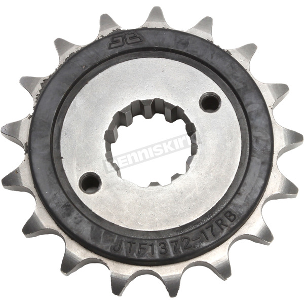 JT Sprockets Front Rubber 17 Tooth Cushioned Sprocket - JTF1372.17RB