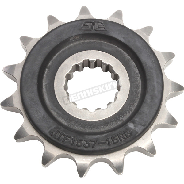 JT Sprockets Front Rubber 15 Tooth Cushioned Sprocket - JTF1537.15RB