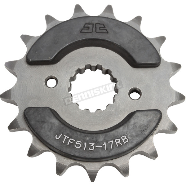 JT Sprockets Front Rubber 17 Tooth Cushioned Sprocket - JTF513.17RB