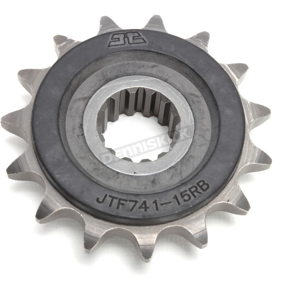 JT Sprockets Front Rubber 15 Tooth Cushioned Sprocket - JTF741.15RB