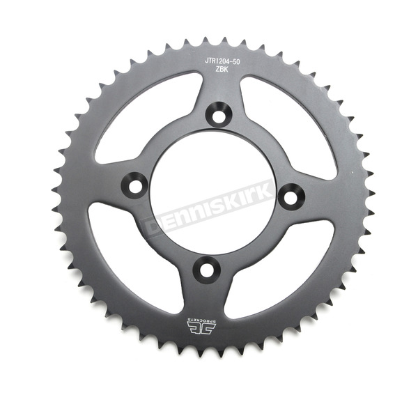 JT Sprockets Induction Hardened Black Zinc Finished 50 Tooth Rear Sprocket - JTR1204.50ZB