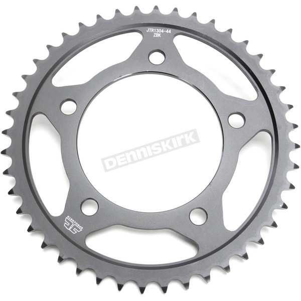 JT Sprockets Induction Hardened Black Zinc Finished 525 44 Tooth Rear Sprocket - JTR1304.44ZB