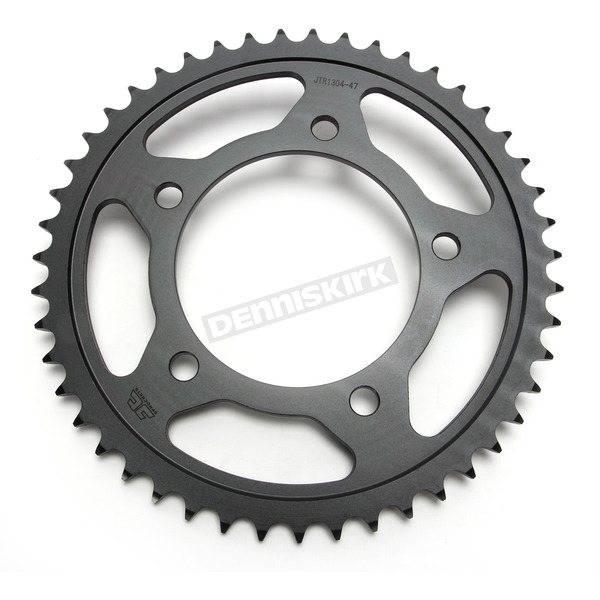 JT Sprockets Induction Hardened Black Zinc Finished 525 47 Tooth Rear Sprocket - JTR1304.47ZB